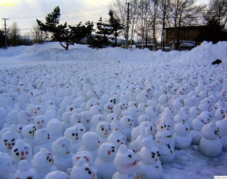 Snowman protest